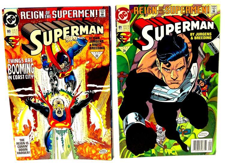 5 DC Comics SUPERMAN REIGN OF SUPERMAN No 78-82 1993