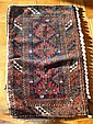 Persian Prayer Rug w/ Attached Shells
