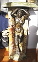 Onyx & Bronze Pedestal with Female Satyr