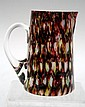 End of the Day Splatter Glass Pitcher Early 1900s