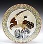 Chinese Famille Verte Porcelain Charger Eagle