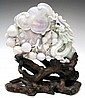 Chinese Jade Carving of Fruit and Dragon