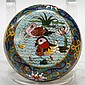 Antique Chinese Cloisonne Enamel Lidded Box