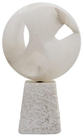 Abstract Alabaster Sculpture by Thea Tewi ca. 1972