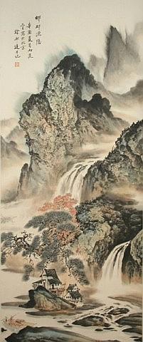 Chinese Scroll Painting of Landscape - Xu Bangda