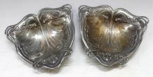 Pair of German Nouveau WMF Pewter Trays
