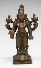 Indian Solid Bronze Hindu Sculpture of Vishnu