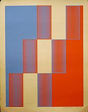 Richard Anuszkiewicz Silkscreen 1973