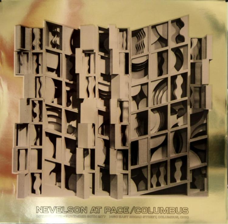 Louise Nevelson-At Pace Columbus Gold -1977 Foil Print
