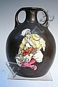 Stellmacher Teplitz Pottery Enameled Amphora 20th, Eduard Stellmacher, Click for value