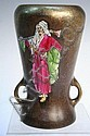 Stellmacher Amphora Enamel Decorated Vase 20th C., Eduard Stellmacher, Click for value