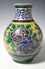 Chinese Floral Porcelain Vase poss. 19th Cent.