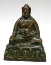 Chinese Bronze Seated Figure poss. Qing