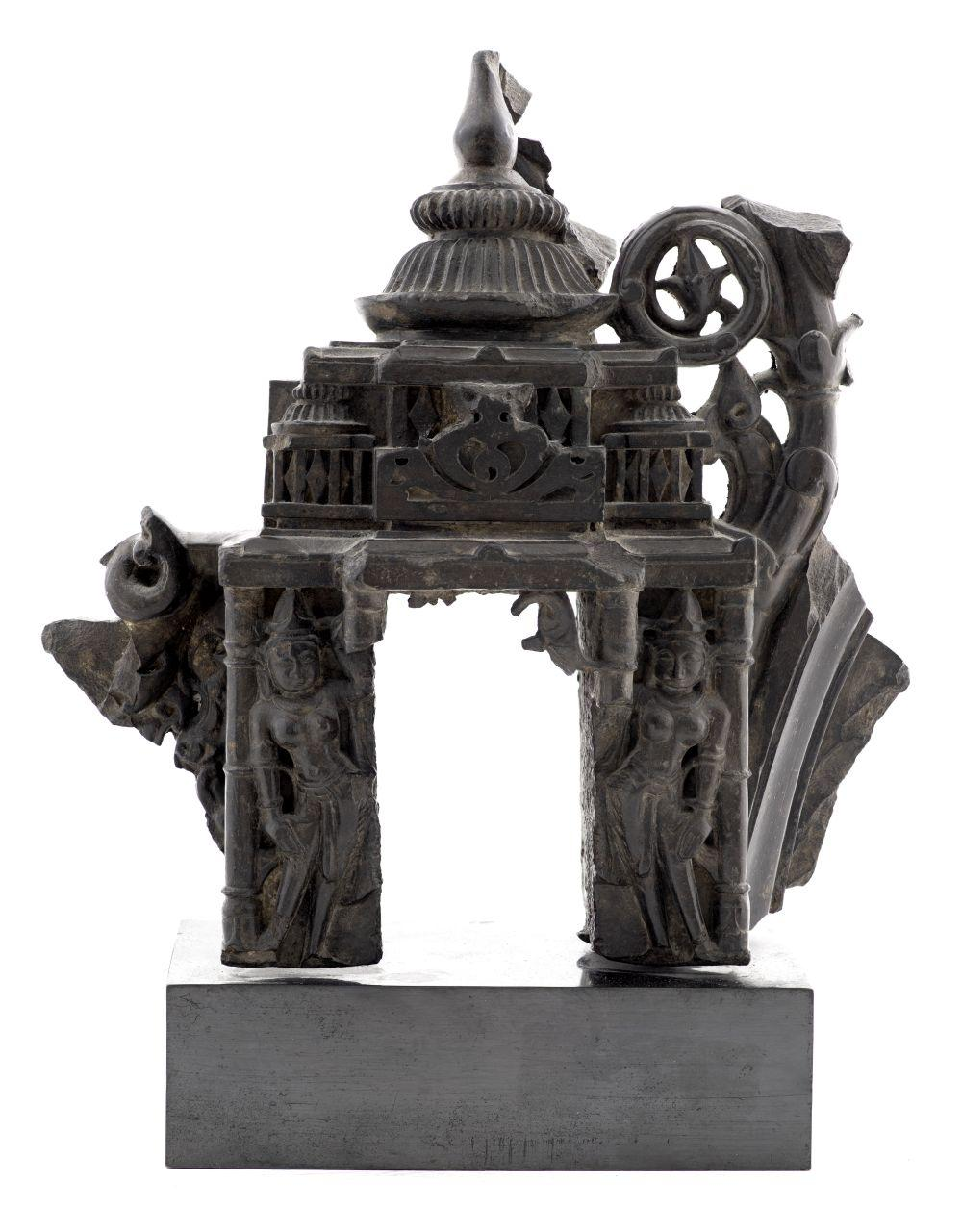 Indian Stone Temple Facade Fragment, 10th-12th C