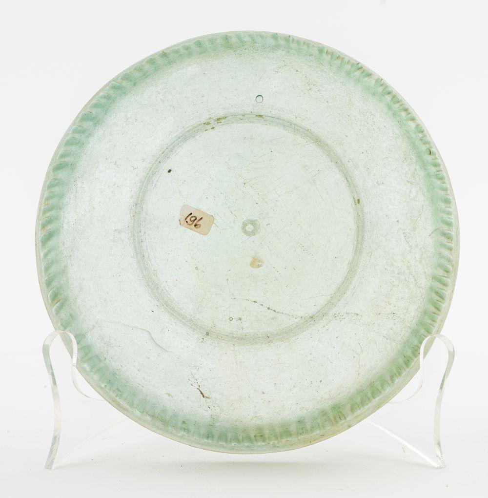 Ancient Roman Pale Green Ribbed Bowl