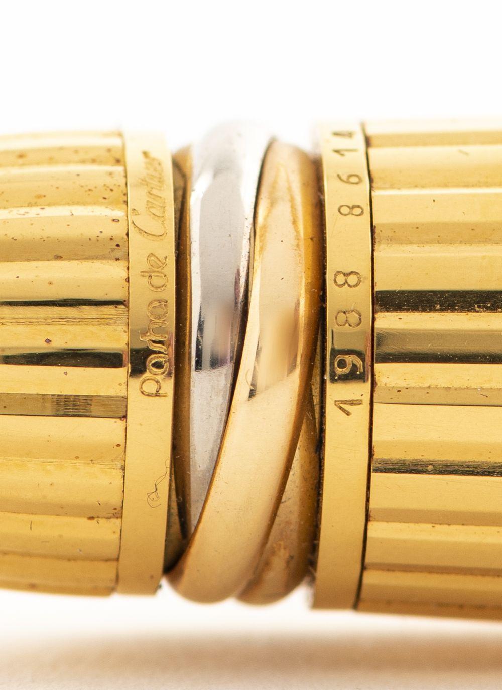 Cartier 'Pasha' Gold Plate & Blue Lacquer Pen