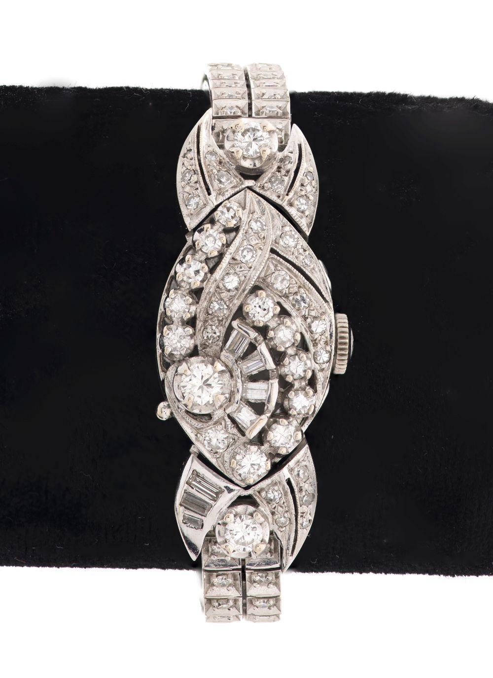 Hamilton Ladies 14K Gold Diamond Cover Watch
