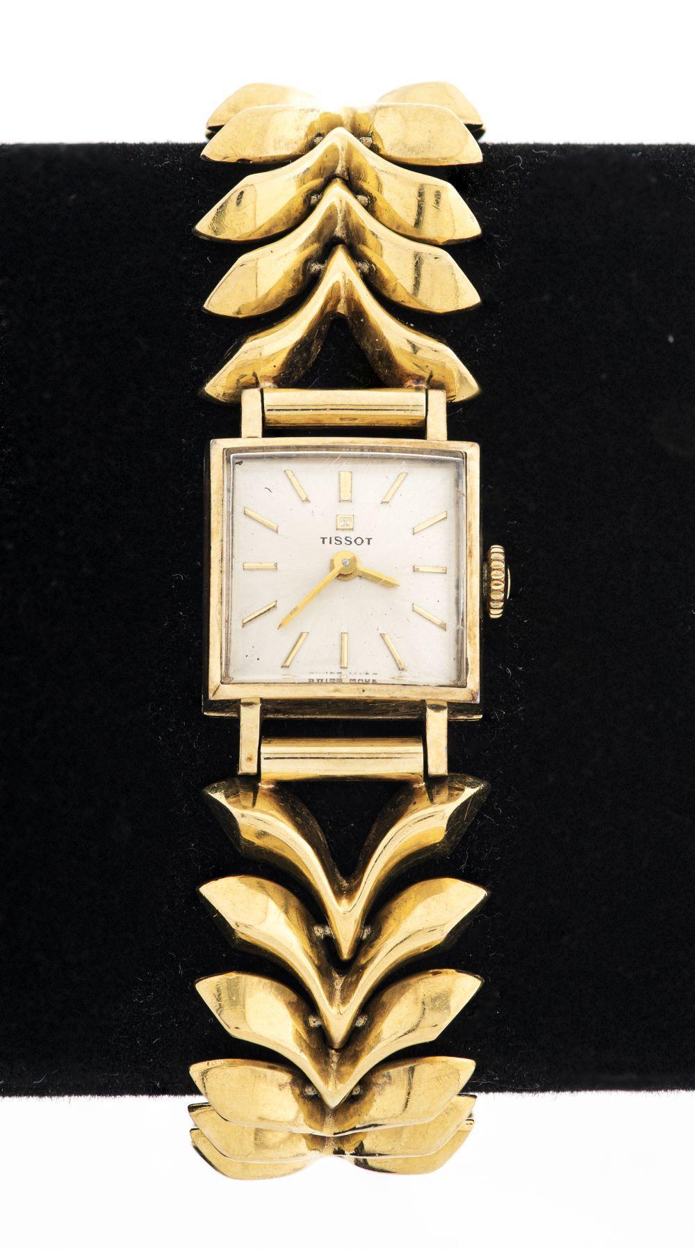 Vintage Tissot Ladies 18K Yellow Gold Dress Watch