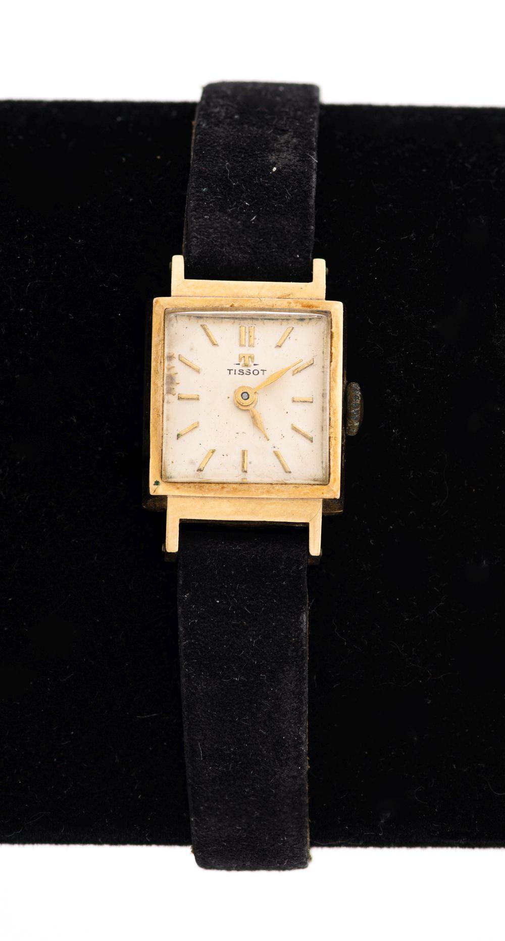 Vintage Tissot 14K Yellow Gold Ladies Wrist Watch