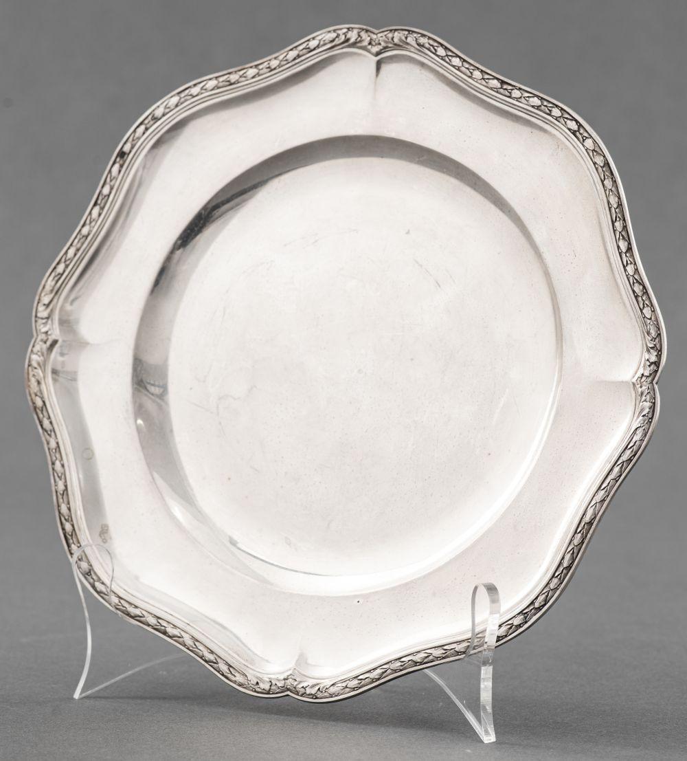Alphonse Debain French Silver Scalloped Rim Dish