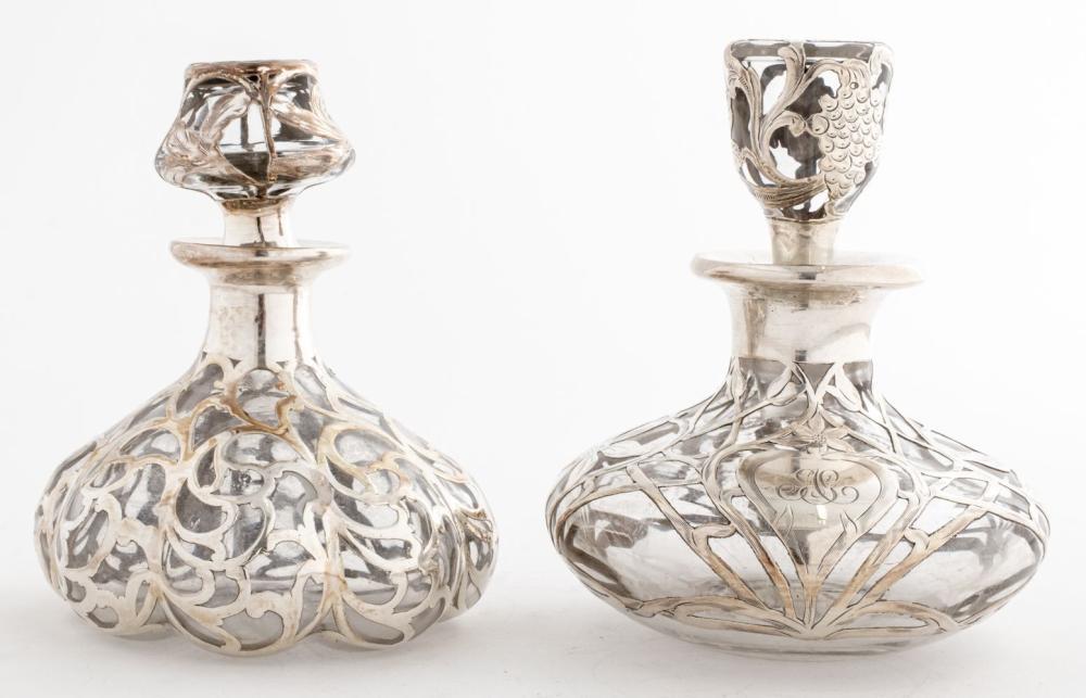 Silver Overlay Perfume Bottles