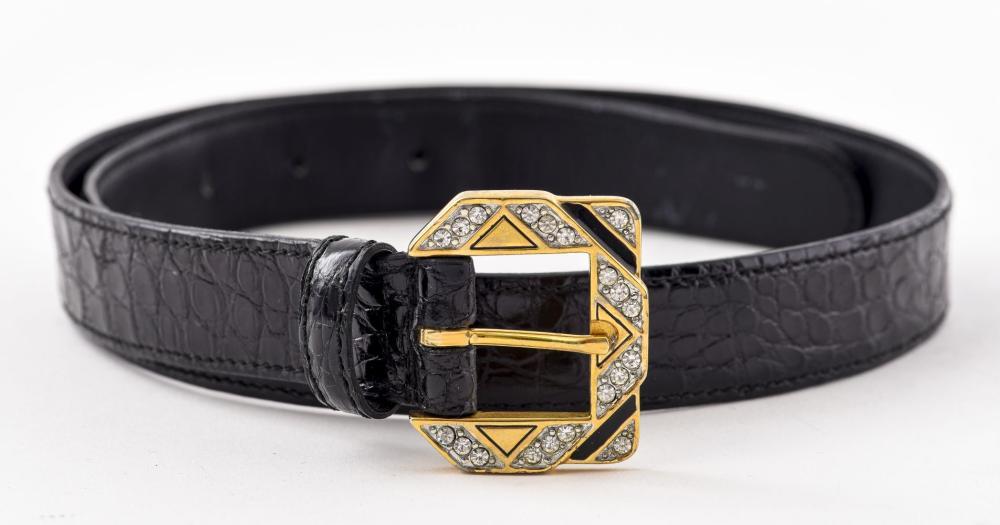 Valentino Garavani Black Leather Belt