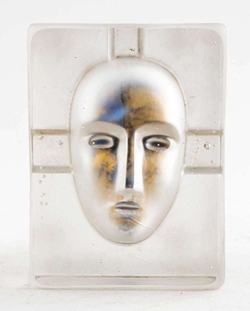 Bertil Vallien Kosta Boda Art Glass Portrait