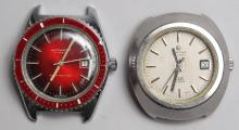 2 Vintage Swiss Automatic Stainless Steel Watches