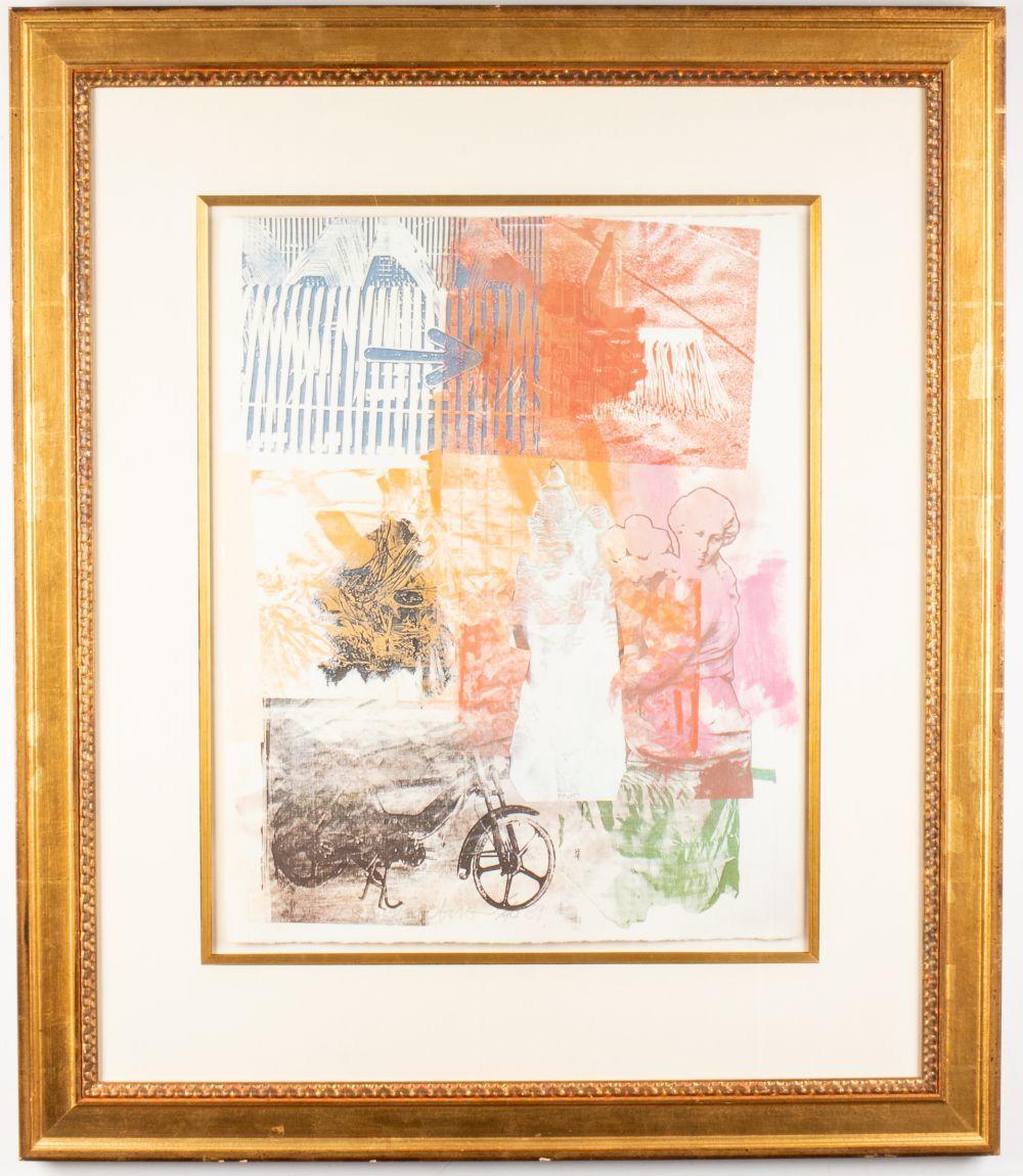 """Robert Rauschenberg """"Arrow"""" Lithograph, 1983"""