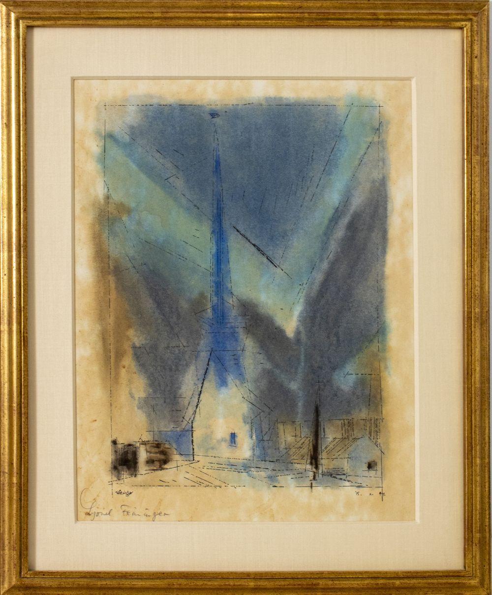 Lyonel Feininger Spire of Gelmeroda Lithograph