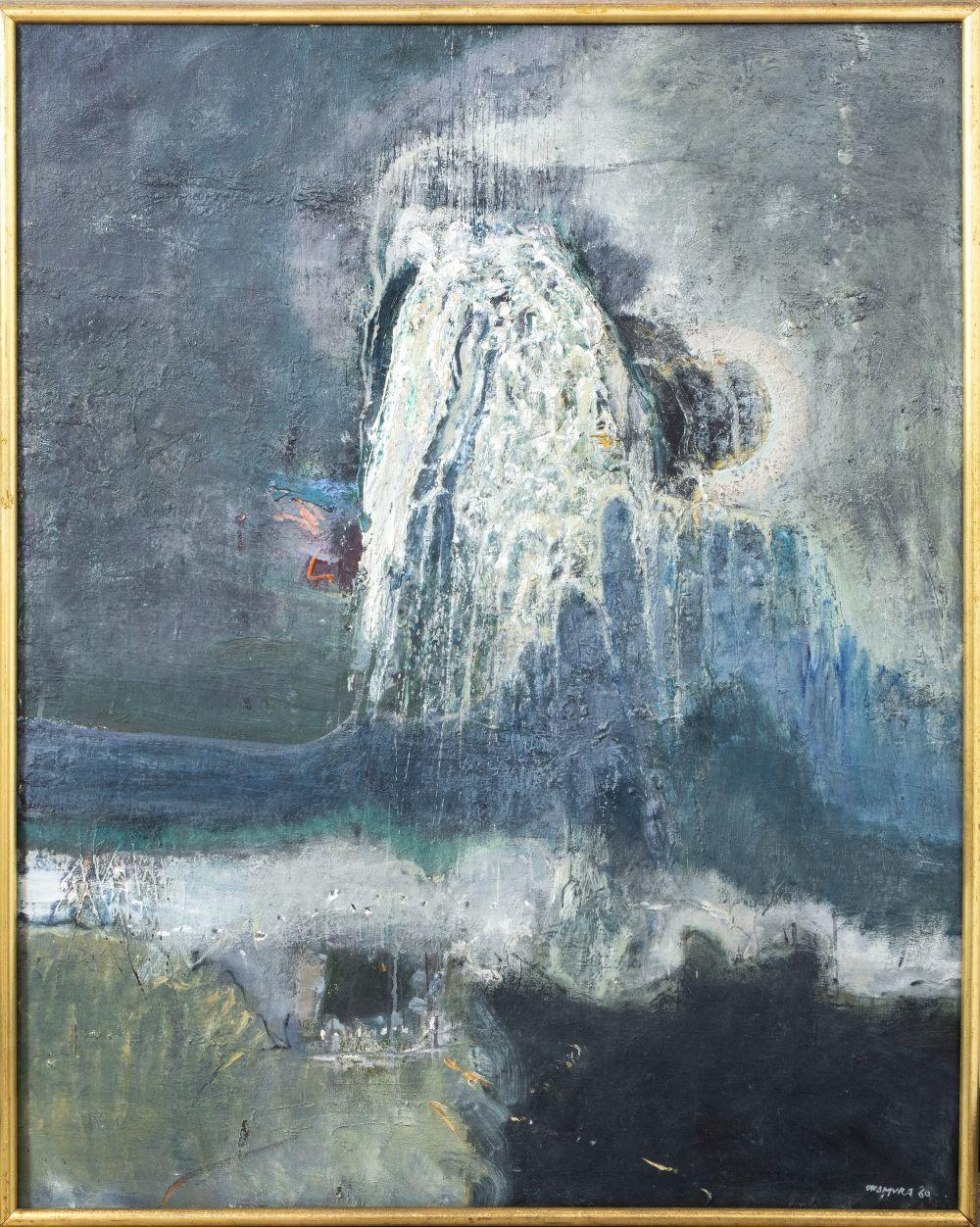 Arthur Okamura Abstract Composition Oil on Canvas