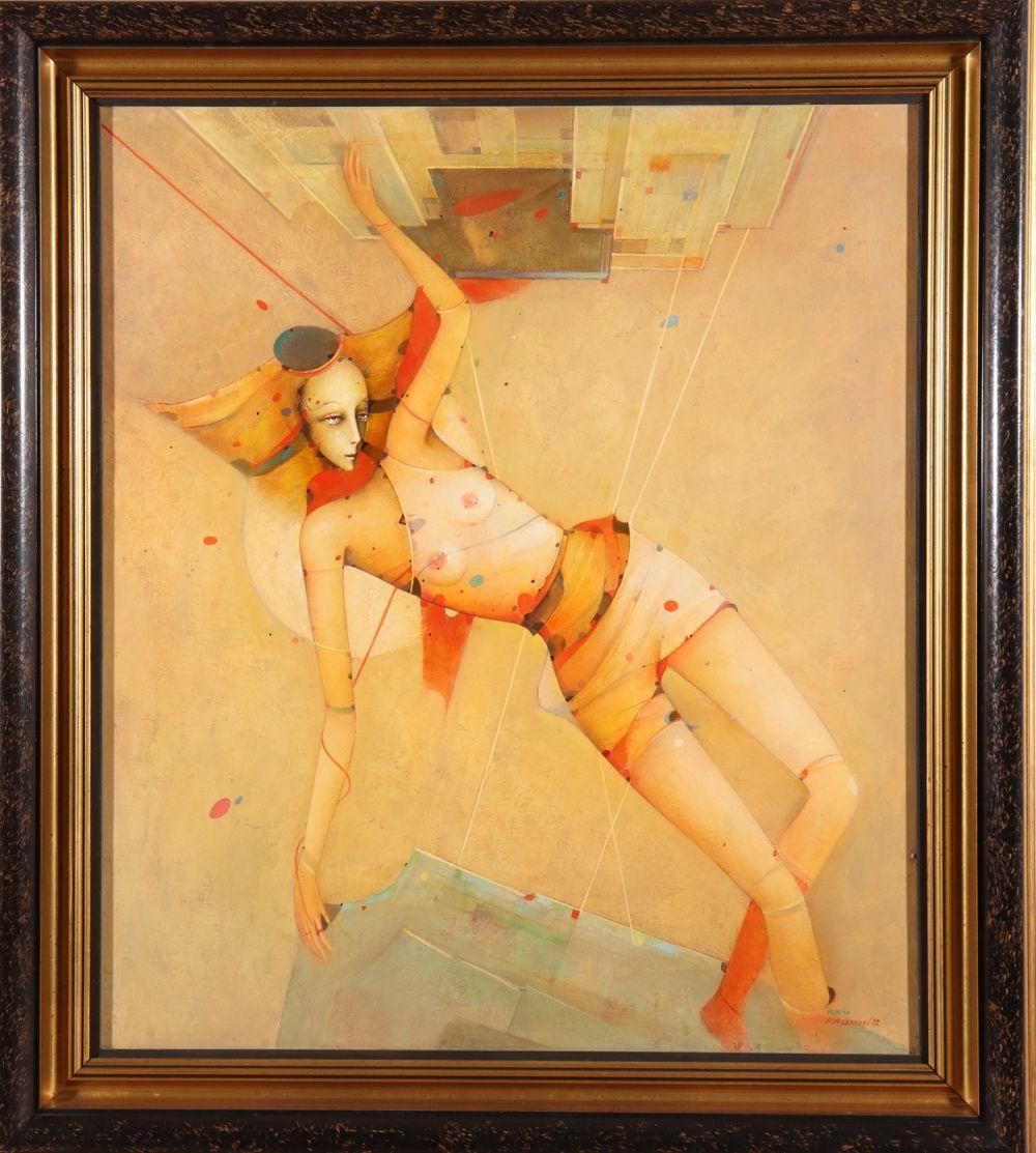 "Mikhail Aleksandrov ""Psyche"" Oil on Board"