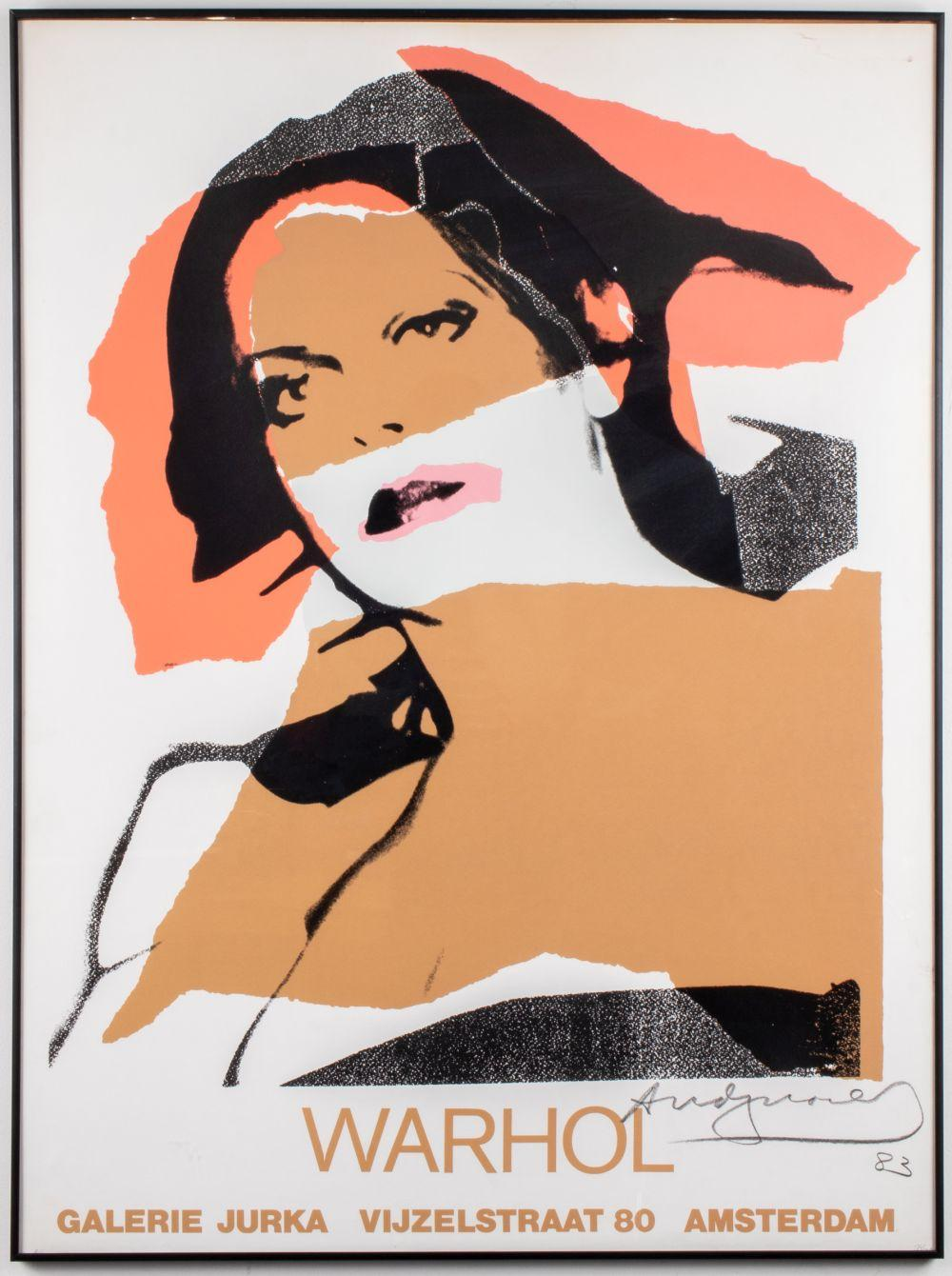 Andy Warhol Signed Poster, Galerie Jurka 1983