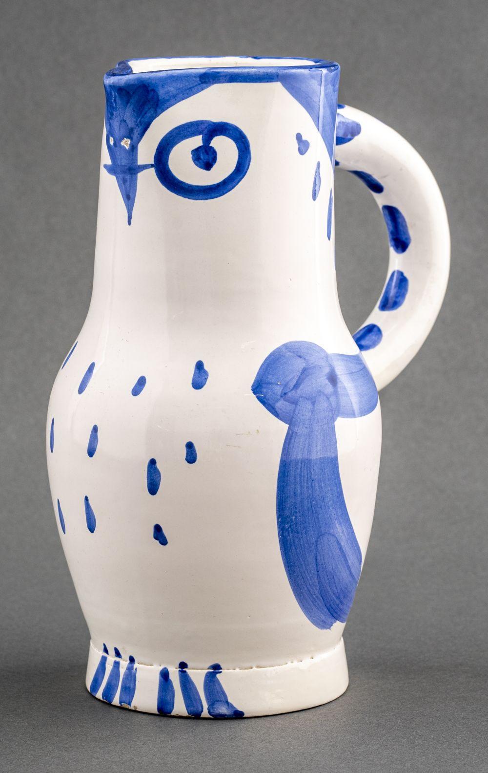 Pablo Picasso 'Hibou' Ceramic Owl Pitcher