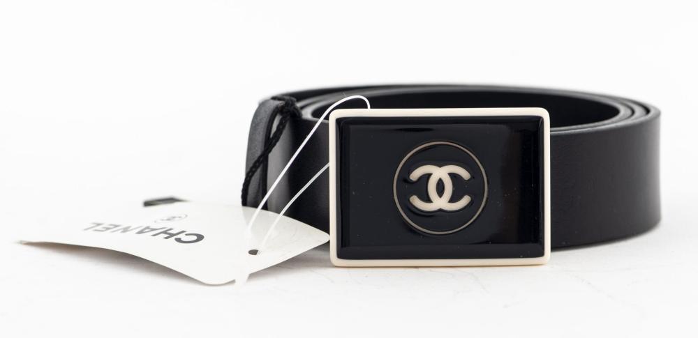 Chanel Leather Belt w Bakelite Buckle