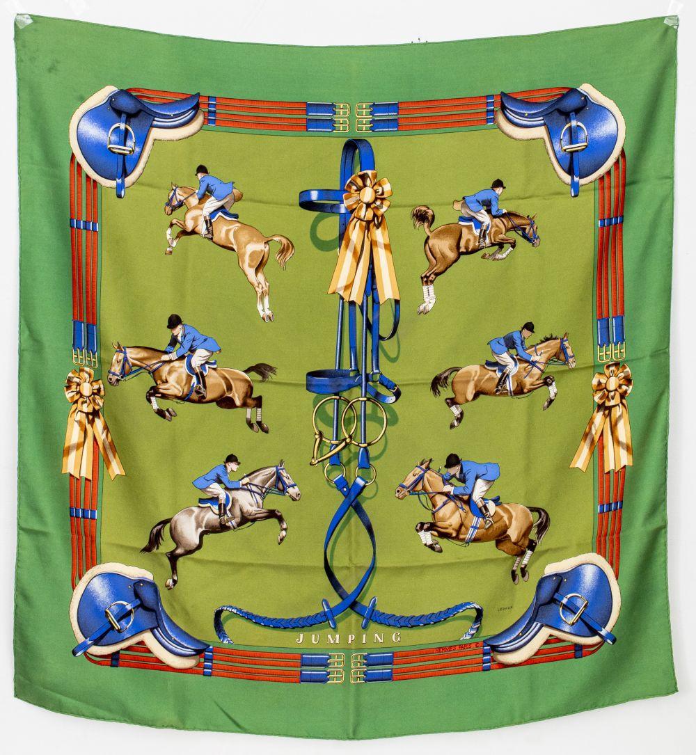 "Hermes ""Jumping"" Silk Scarf"