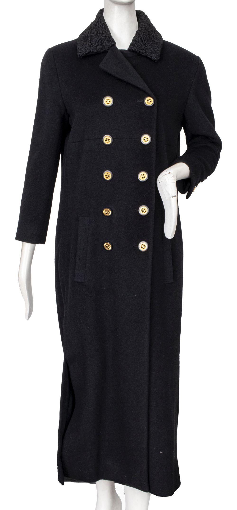 Chanel Cashmere and Persian Lamb Long Coat