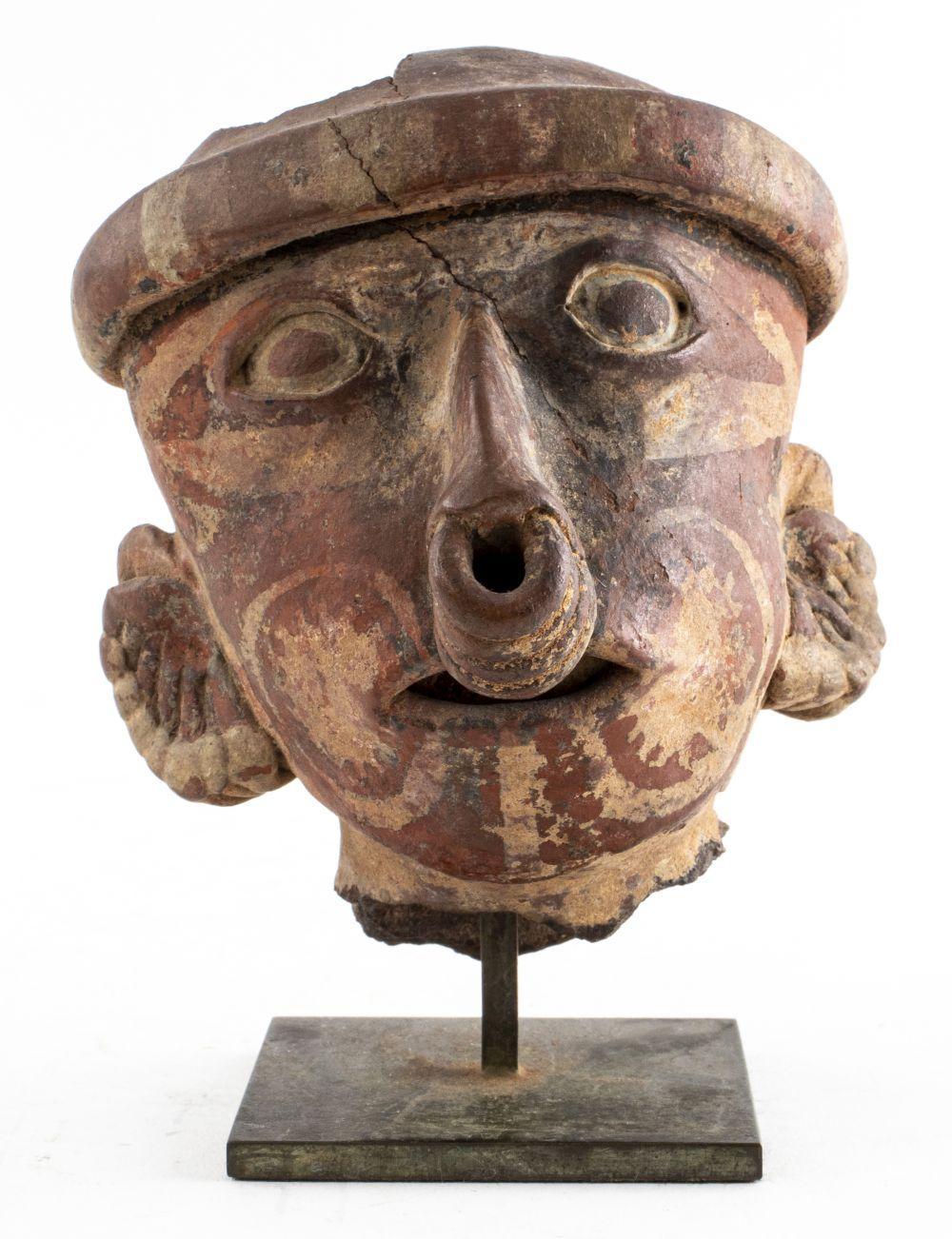 "4.75"" Pre-Columbian Pottery Nayarit Head"