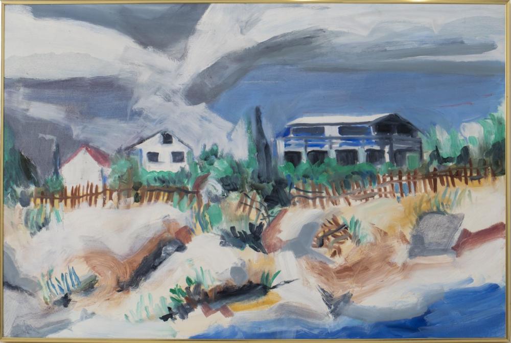 Impressionist Beach Scene, Oil on Canvas