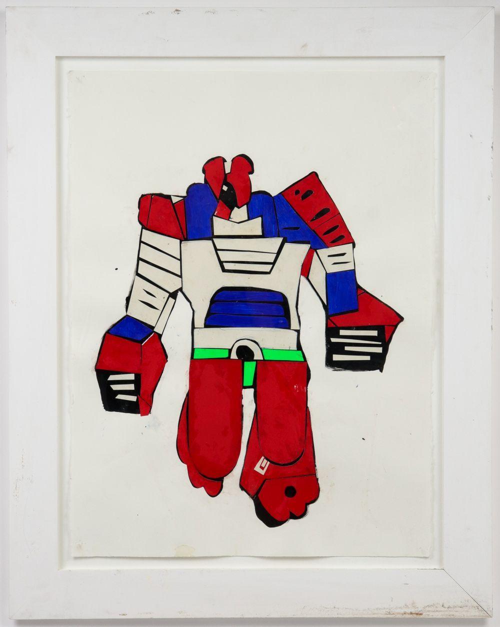 "Jacob Williams ""Robot"" Acrylic & Collage"