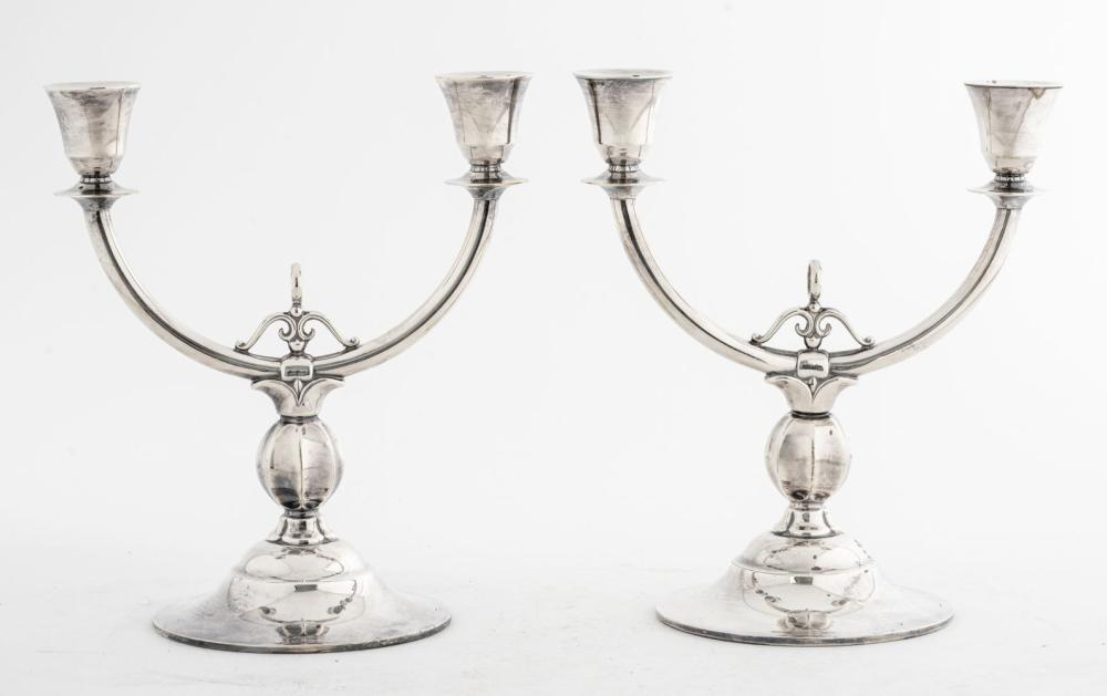 Swedish Neoclassical Two-Arm Candelabra, Pair
