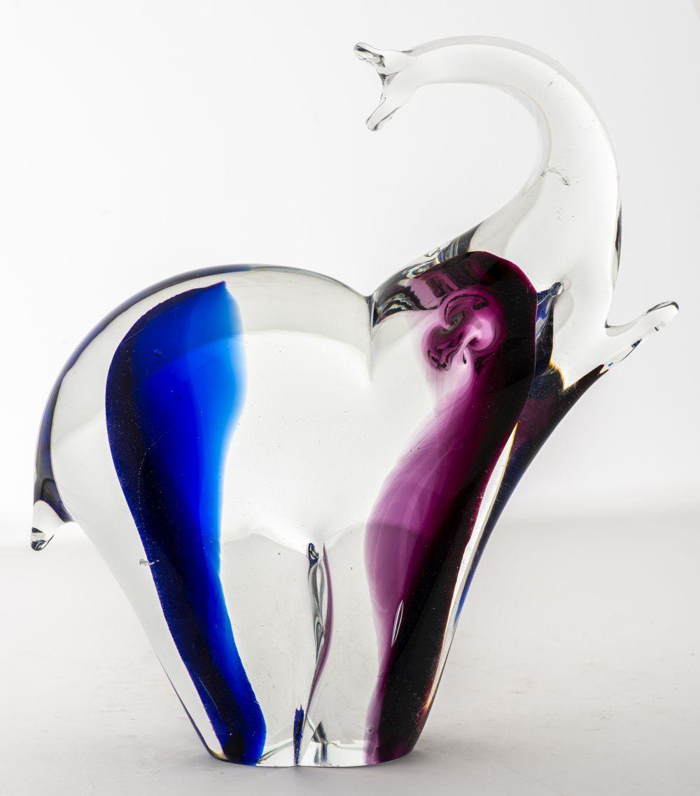 Italian Murano Art Glass Elephant Figure.