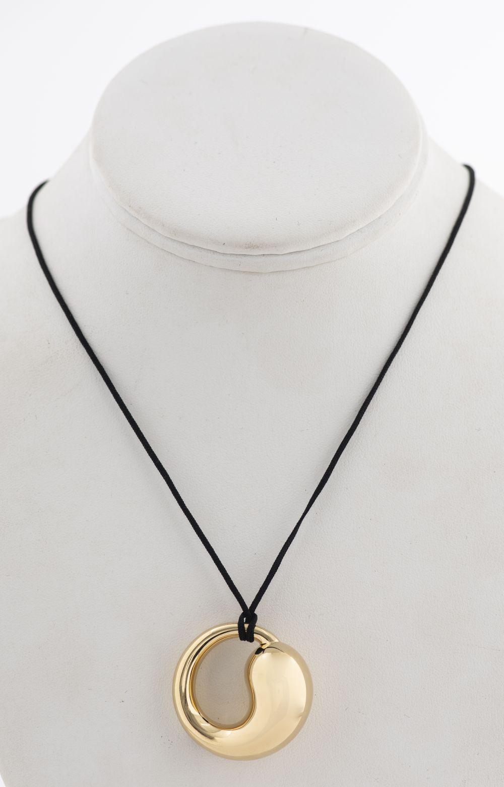 Tiffany & Co Elsa Peretti Style 18K Circle Pendant