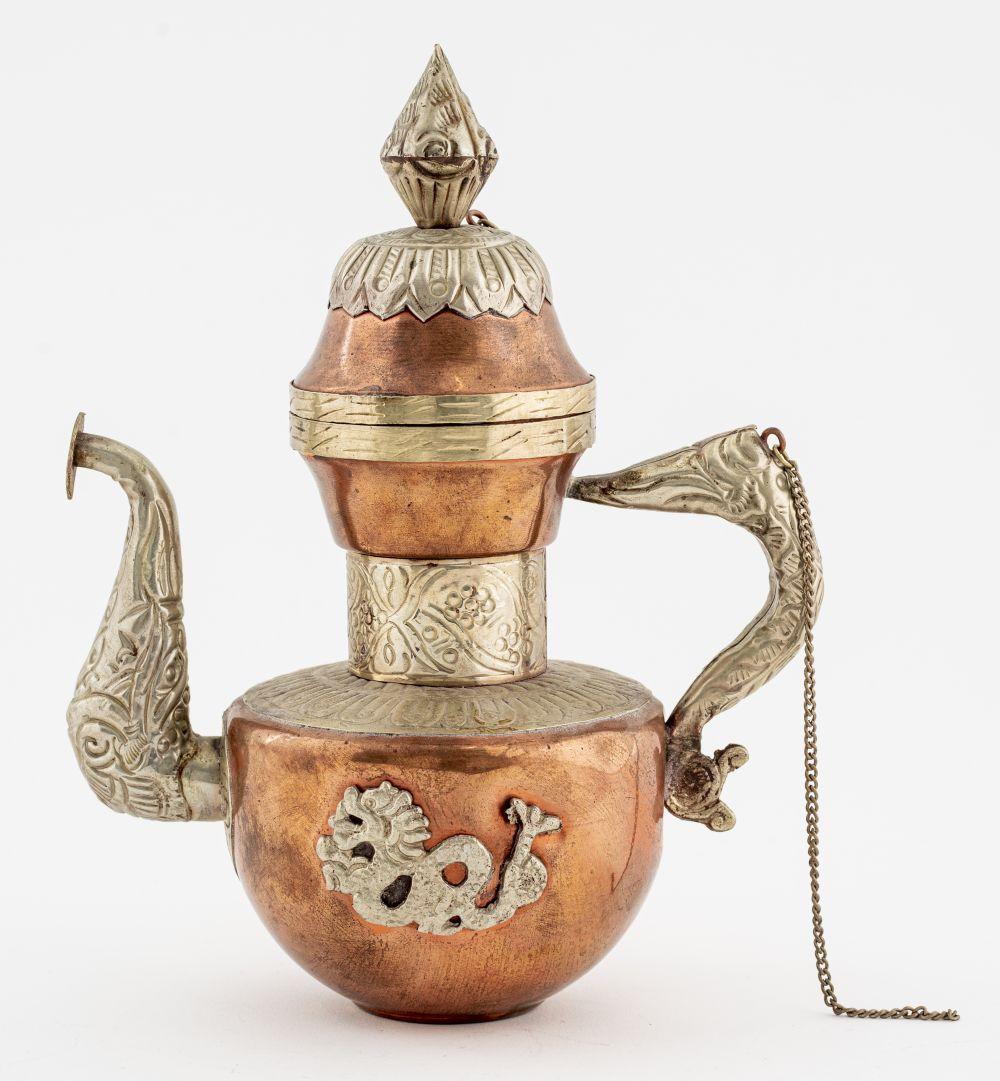 Tibetan Mixed Metal Tea Pot