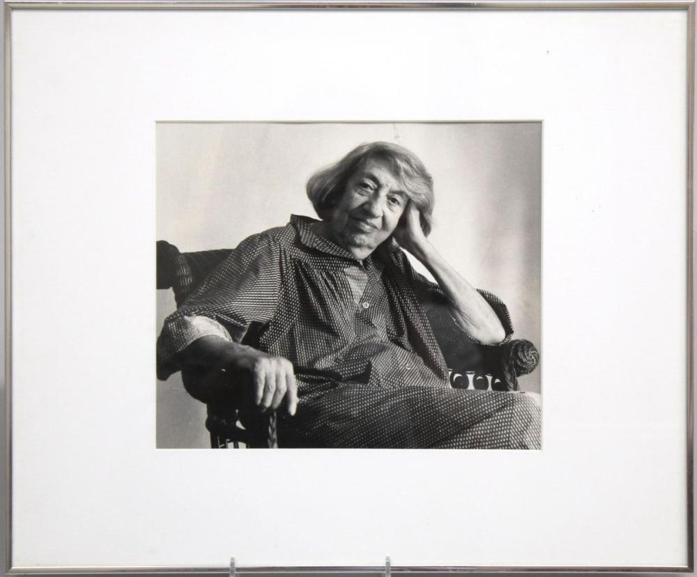 Portrait of Lee Krasner, B/W Photograph