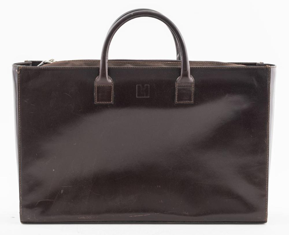 Lambertson Truex Brown Leather Briefcase