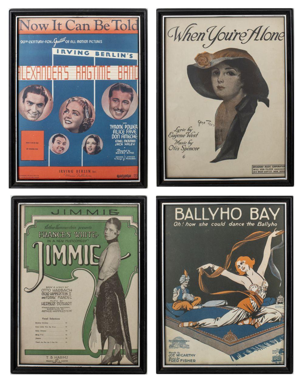 Framed Vintage New York Show Posters, 4