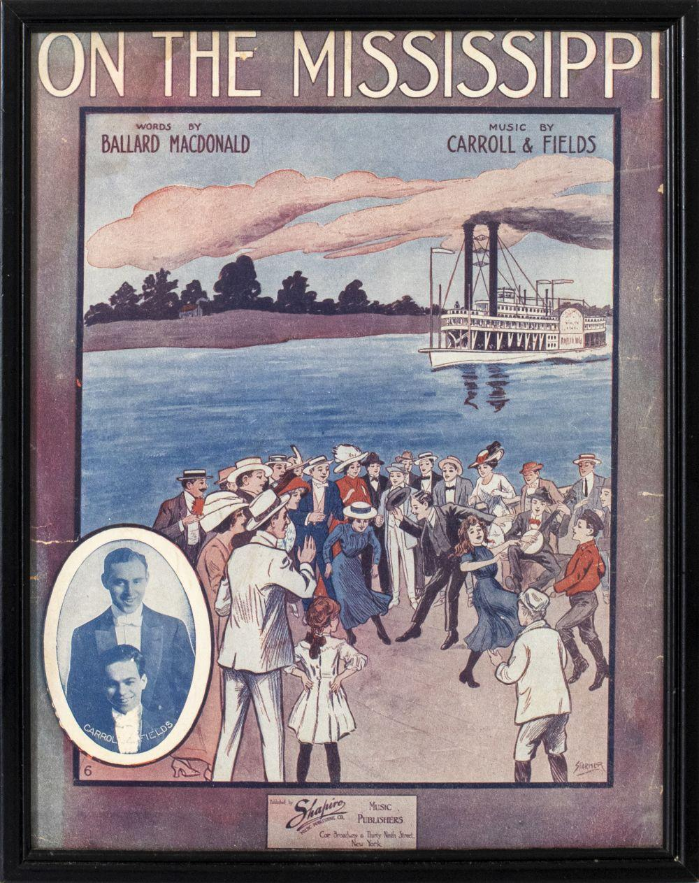 """""""On the Mississippi"""" Sheet Music Cover"""