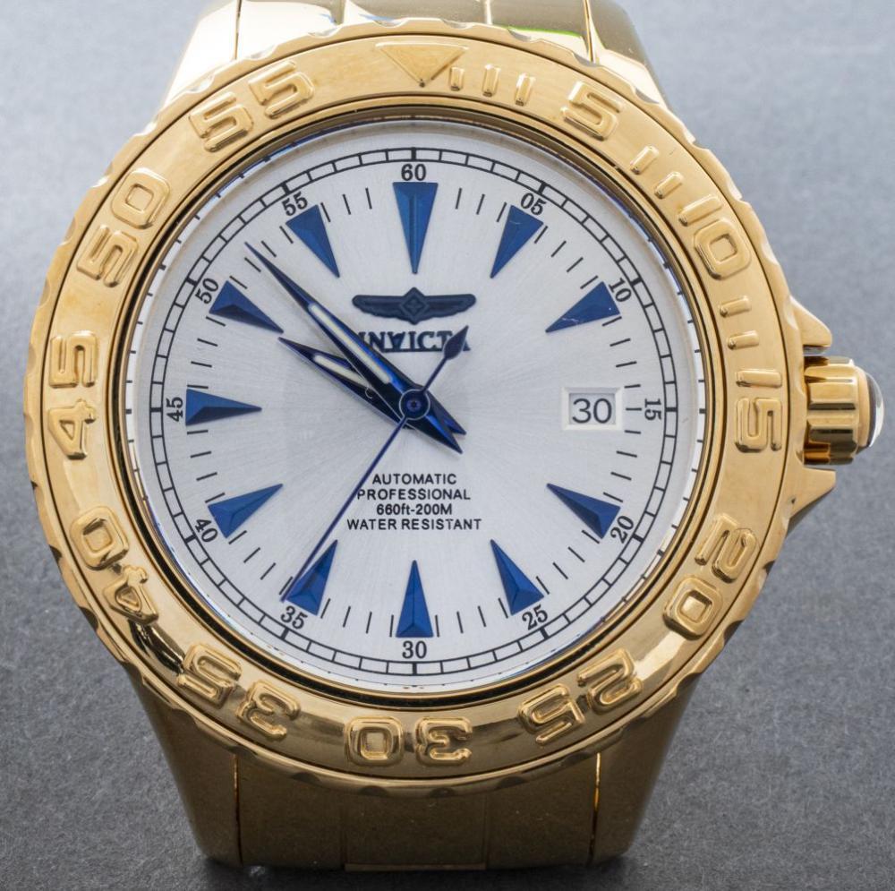 """Invicta """"Pro Diver"""" Gold-Tone Watch #17591"""