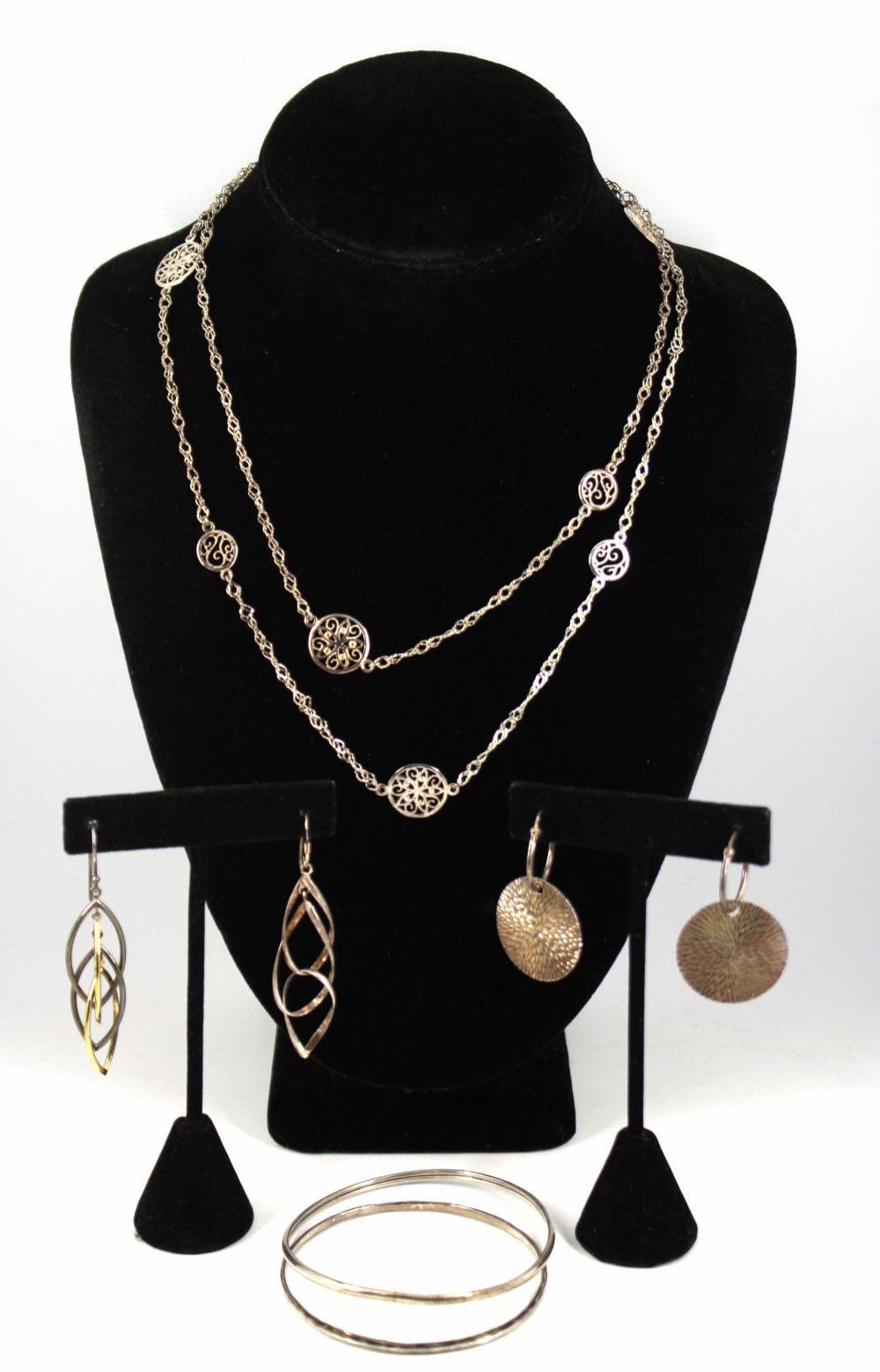 Vintage Mid-Century Modern Silver Jewelry